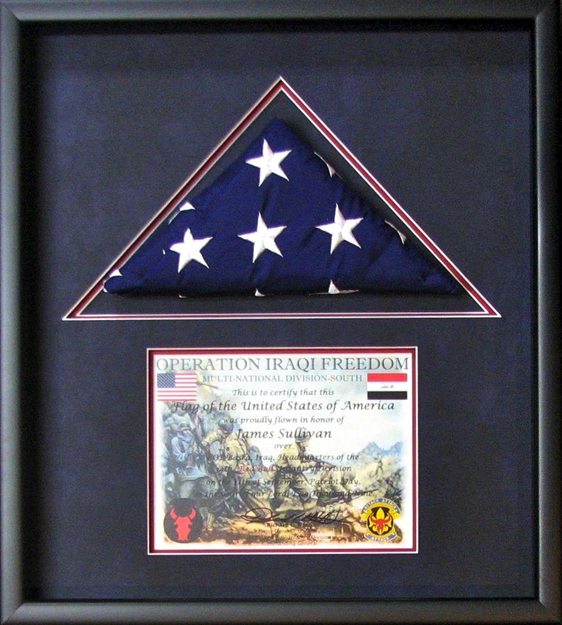 flag case float blues - Tami\'s Fast Frame