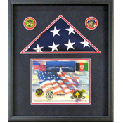 Lilydale, MN Flag and Certificate Shadow Box