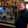 Custom framed pic of all the Jazz greats framed for Dan's music room.